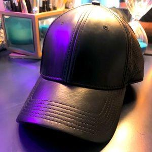 Gents Black Leather Hat